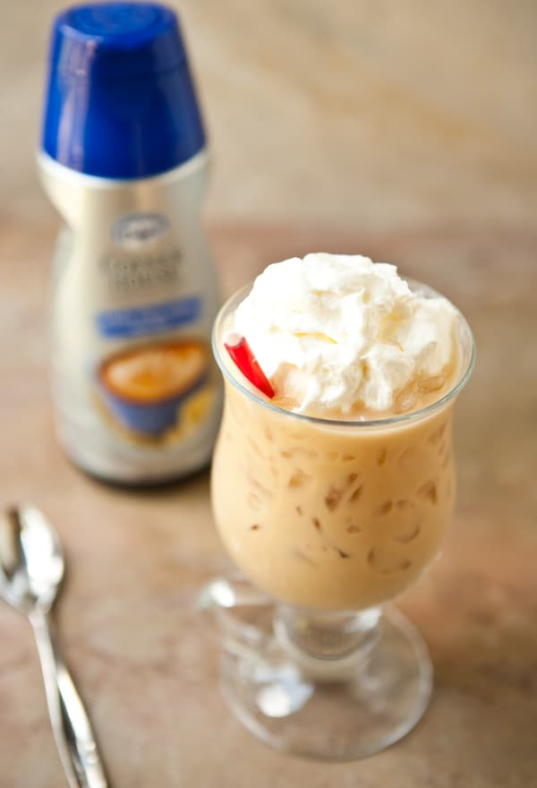 White Chocolate Mocha Iced Coffee with International Delight #IDandMe by EclecticRecipes.com #recipe