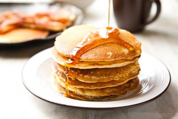 Cornmeal Pancakes @EclecticEveryday