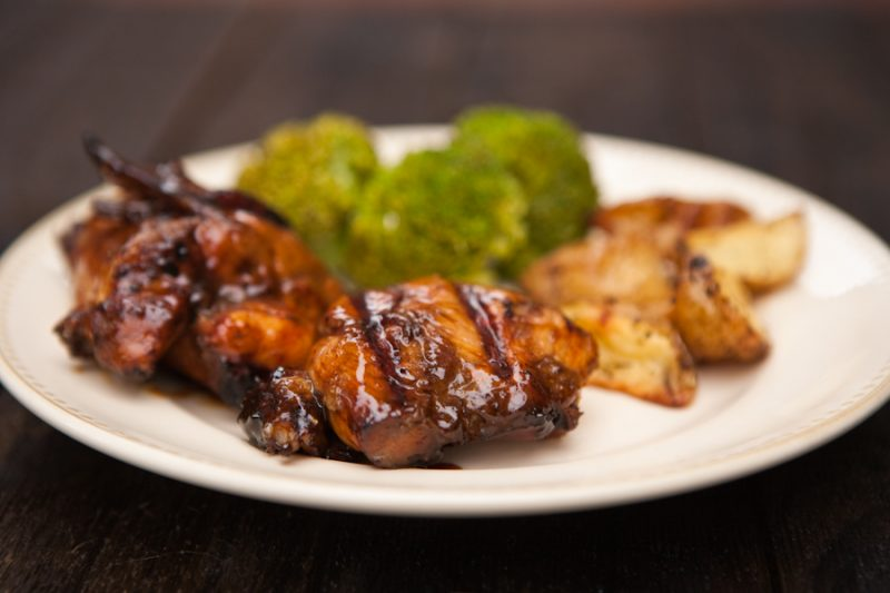 Hoisin Glazed Grilled Chicken  by EclecticRecipes.com #recipe