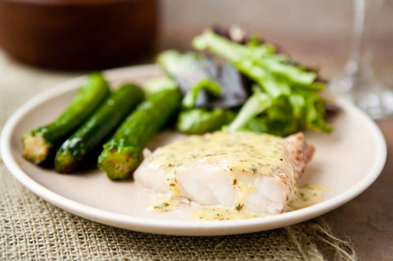 Eclectic Recipes » Grouper with Lemon Basil Cream Sauce