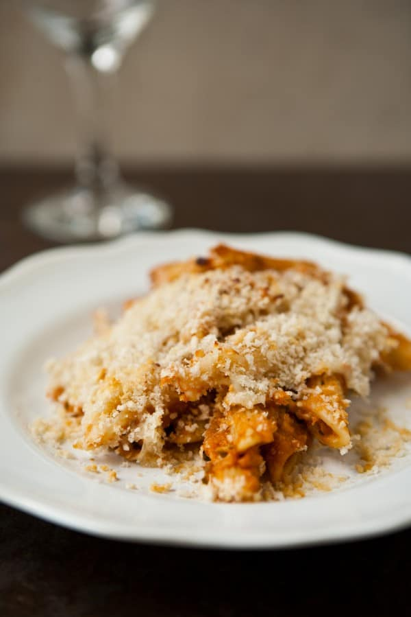 Eggplant Pasta Bake by EclecticRecipes.com #recipe