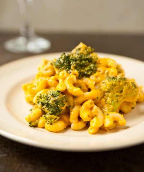 Three Cheese Pumpkin Macaroni and Cheese by EclecticRecipes.com #recipe