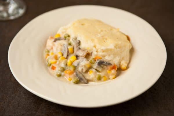 Veggie Filled Shepherd's Pie by EclecticRecipes.com #recipe