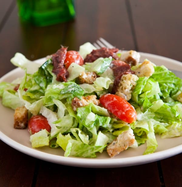 Simple Caesar Salad by EclecticRecipes.com #recipe