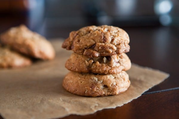 Brown Butter Oatmeal Chocolate Chip Cookies  by EclecticRecipes.com #recipe