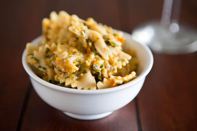 Eclectic Recipes » Bow-Tie Eggplant Pasta