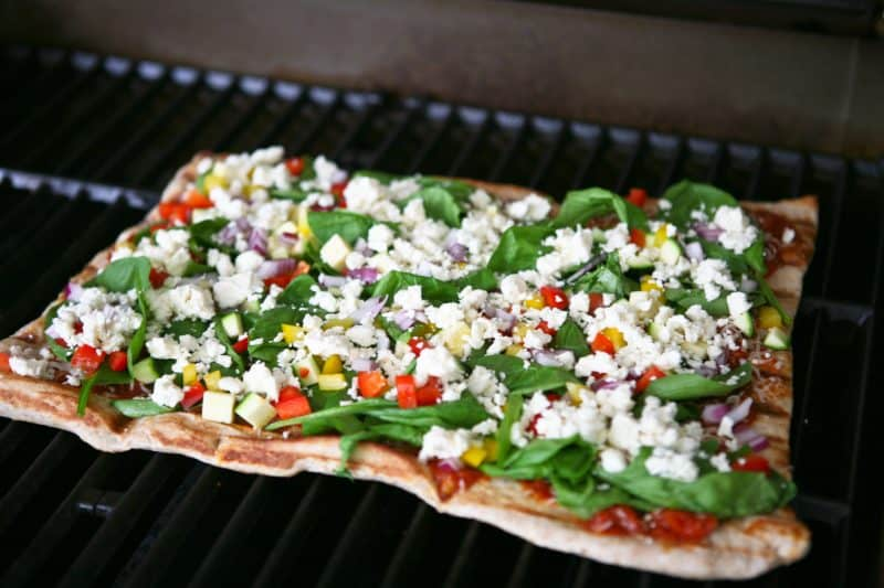 Eclectic Everyday » Grilled Greek Pizza