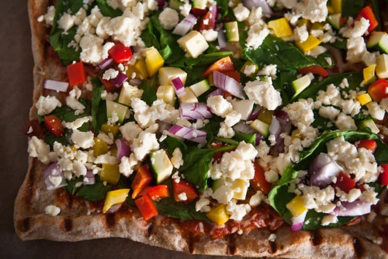 Eclectic Recipes » Grilled Greek Pizza