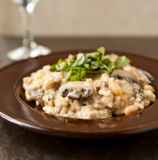Easy Mushroom Risotto with Cannellini Beans @EclecticEveryday