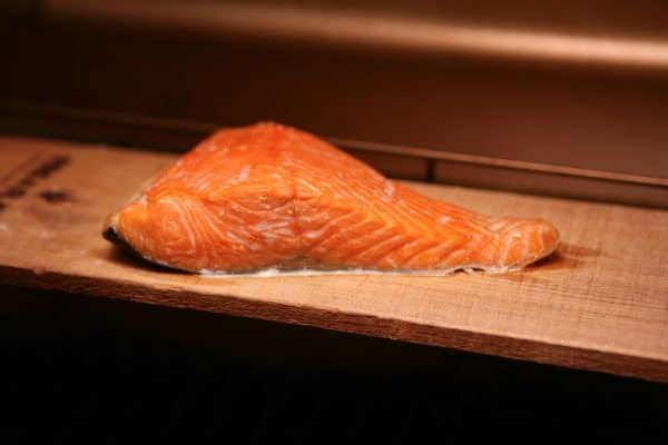 Grilled Cedar Planked Salmon and Summer Kitchen Reveal by EclecticRecipes.com #recipe