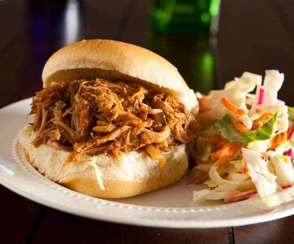 Dr. Pepper Pulled Pork Sandwiches by EclecticRecipes.com #recipe