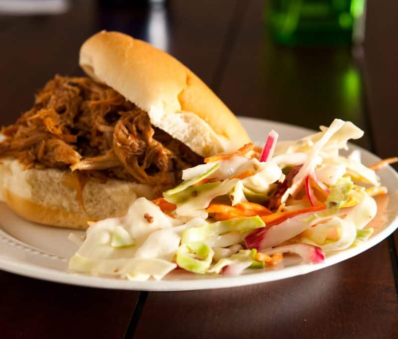 Eclectic Recipes • Dr. Pepper Pulled Pork Sandwiches