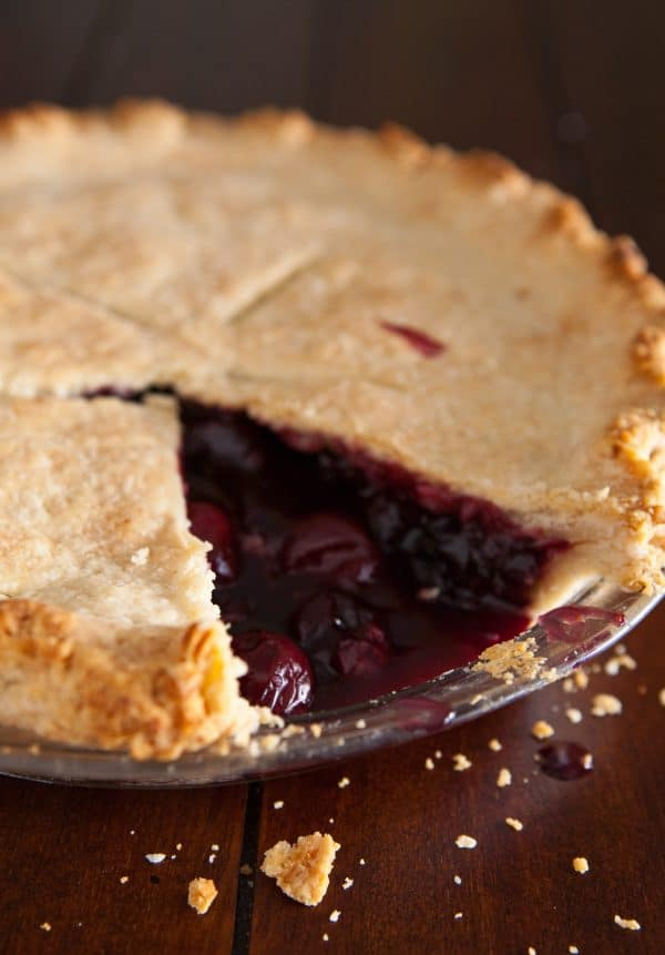 Cherry Pomegranate Pie by EclecticRecipes.com #recipe