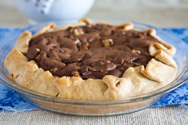 Eclectic Recipes » Chocolate Chunk Walnut Cookie Pie