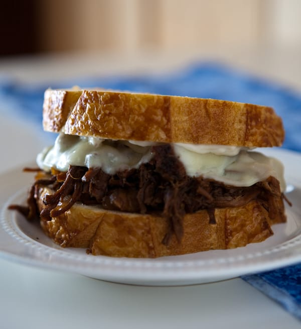 Pot Roast Sandwich and a Panera Contest by EclecticRecipes.com #recipe