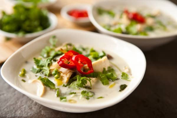 Thai Coconut Soup by EclecticRecipes.com #recipe