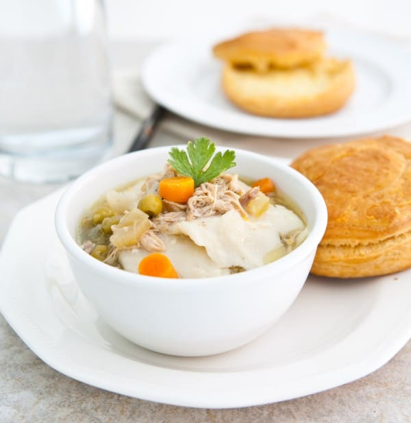Slow Cooker Chicken and Dumplings @EclecticEveryday