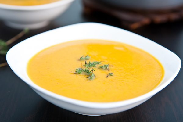 Coconut Curry Butternut Squash Soup  by EclecticRecipes.com #recipe