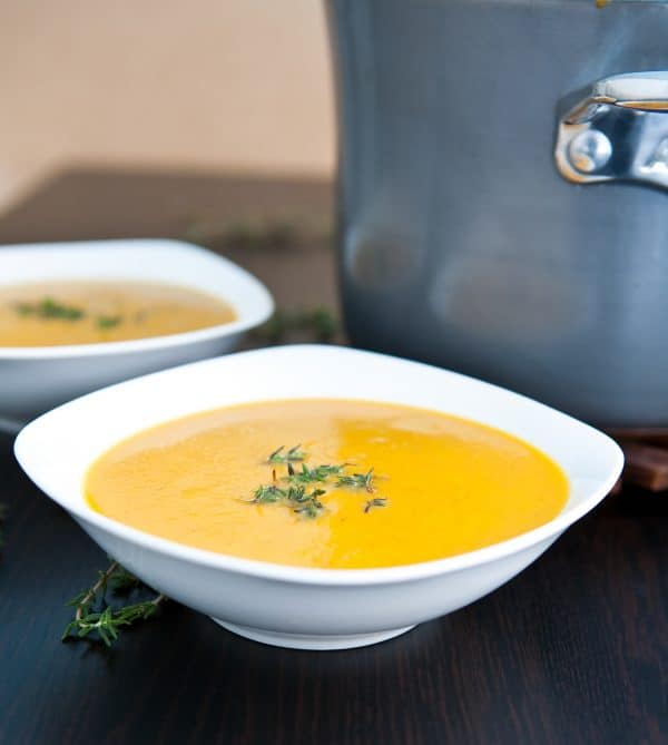 Coconut Curry Butternut Squash Soup @EclecticEveryday