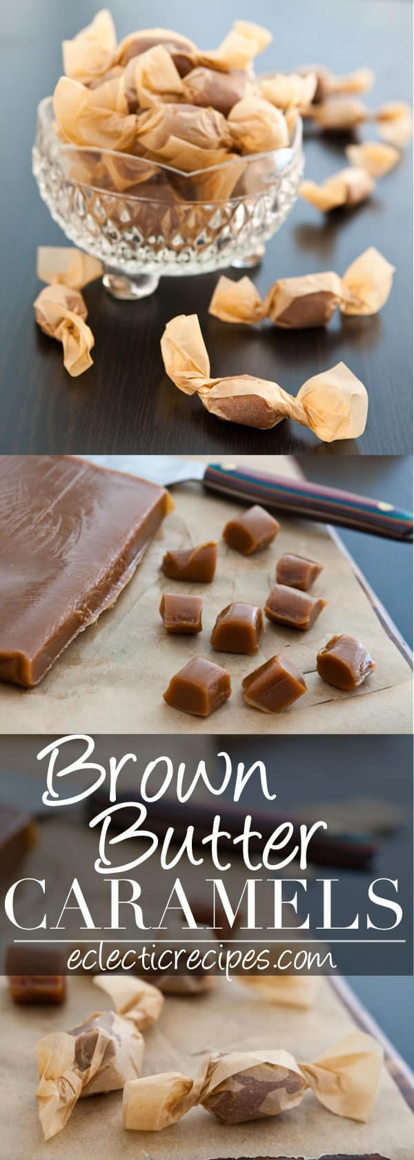 Brown Butter Caramels #holiday #christmas #candy #caramels #gift
