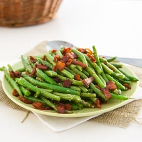 Parmesan Ranch Roasted Green Beans @EclecticEveryday
