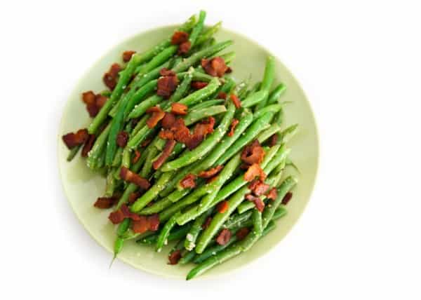 Parmesan Ranch Roasted Green Beans by EclecticRecipes.com #recipe