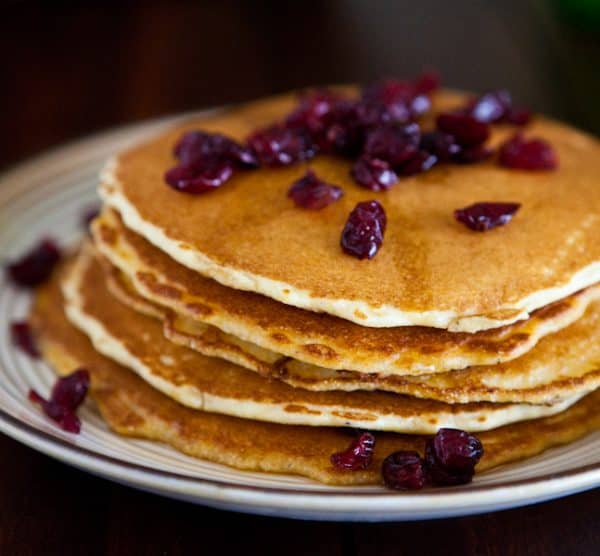Cranberry Cornmeal Pancakes & {Walmart Gift Card Giveaway}  by EclecticRecipes.com #recipe