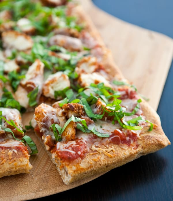 Chicken Parmesan Pizza by EclecticRecipes.com #recipe