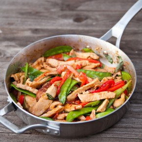 Thai Basil Pork Stir Fry {$500 Calphalon Gift Card Giveaway} @EclecticEveryday