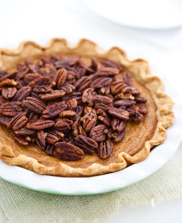 Sweet Potato Pie with Maple Candied Pecans @EclecticEveryday