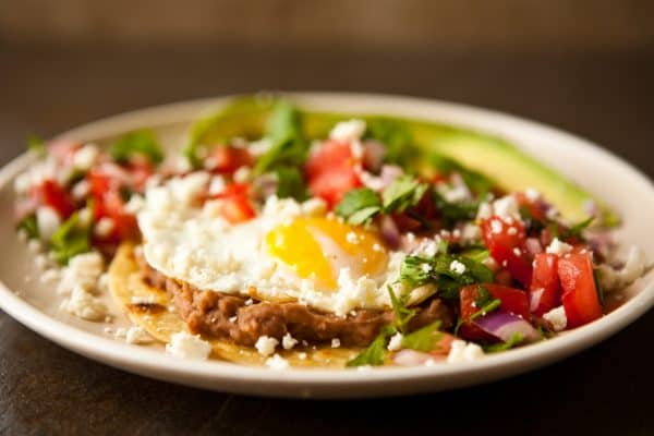 Huevos Rancheros with Pico de Gallo by EclecticRecipes.com #recipe