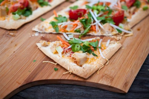 Thai Flatbread Pizza by EclecticRecipes.com #recipe