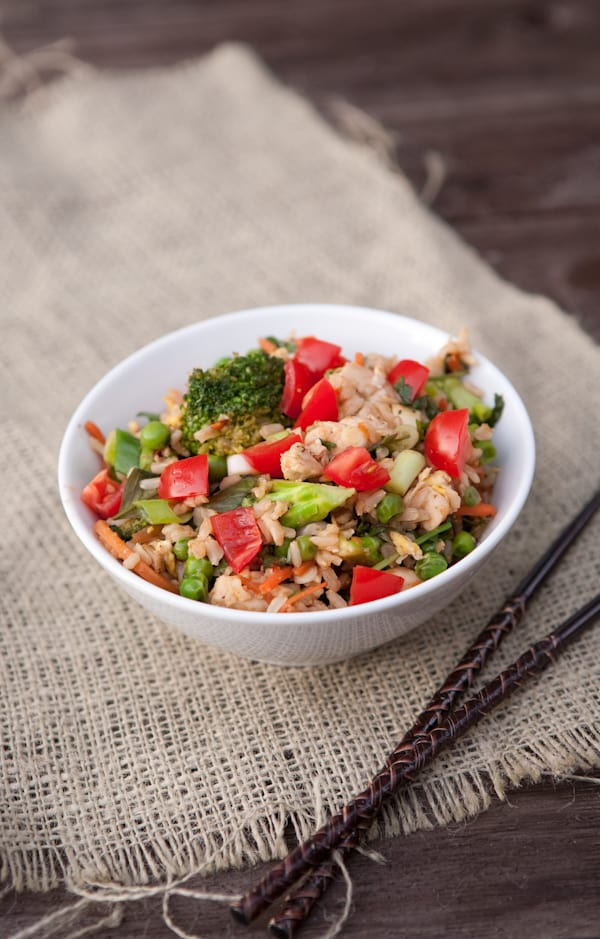 Thai Fried Rice {Zojirushi Rice Cooker Giveaway} by EclecticRecipes.com #recipe