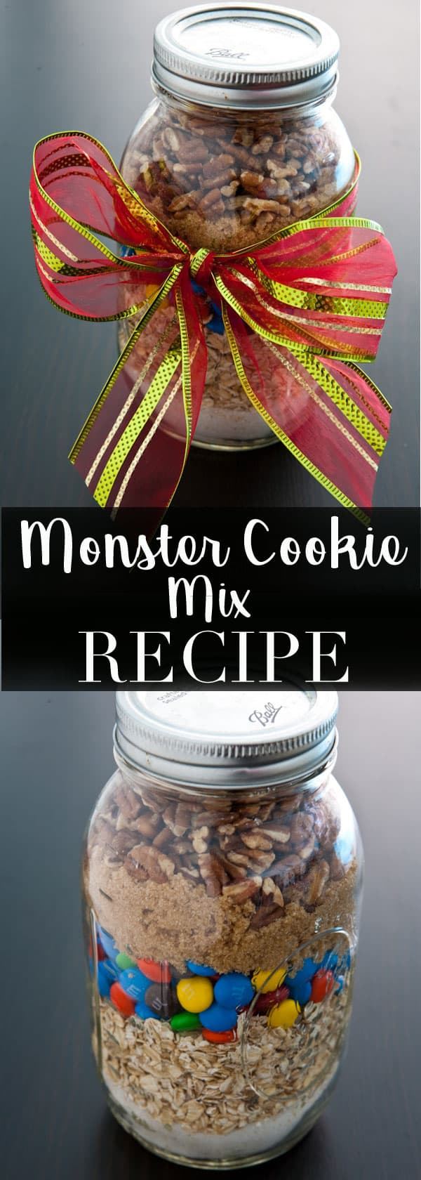 Monster Cookies Mix #gift #christmas #cookies #desserts #holiday
