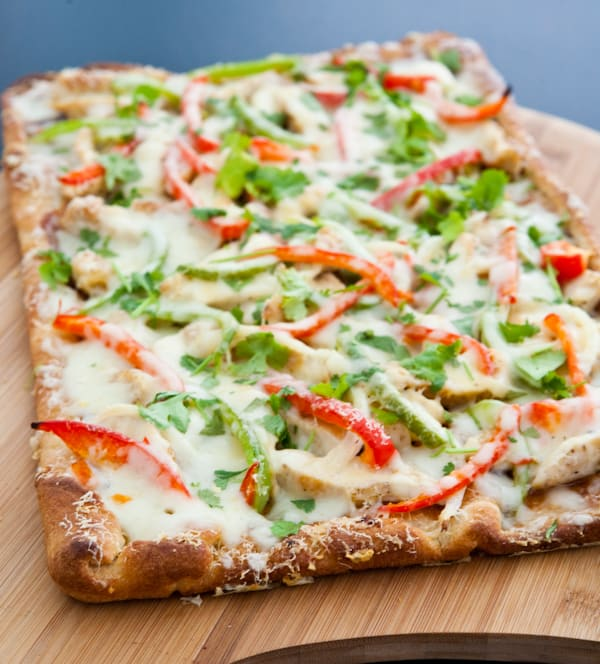 BBQ Chicken Pizza by EclecticRecipes.com #recipe