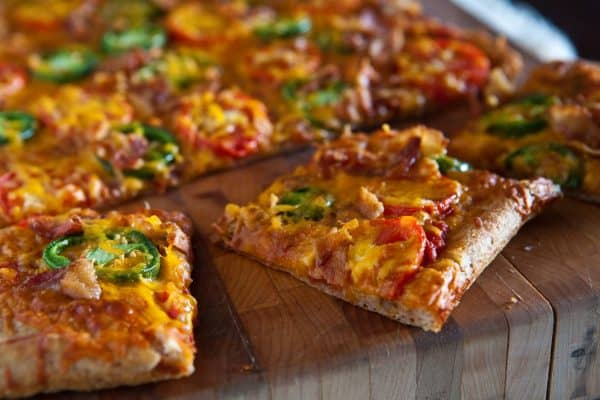 Bacon, Jalapeno and Tomato Pizza by EclecticRecipes.com #recipe