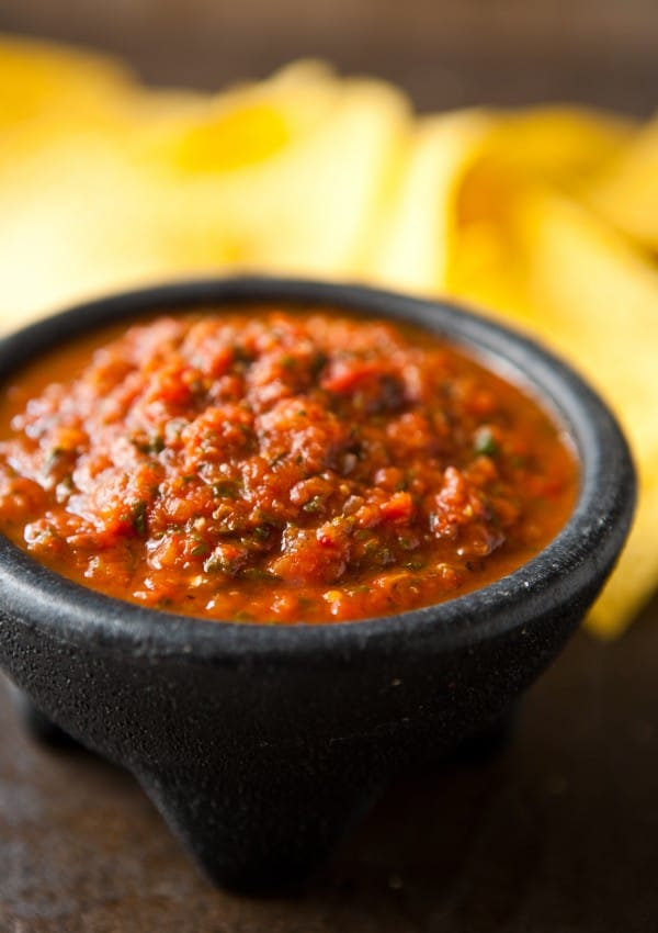 Chipotle Salsa by EclecticRecipes.com #recipe