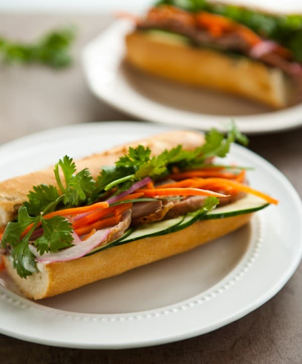Pork Banh Mi by EclecticRecipes.com #recipe