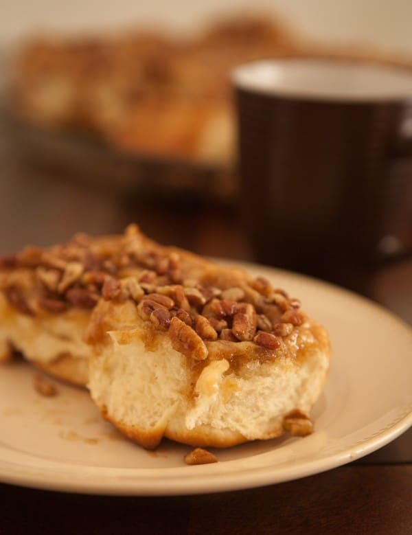 Homemade Sticky Buns by EclecticRecipes.com #recipe