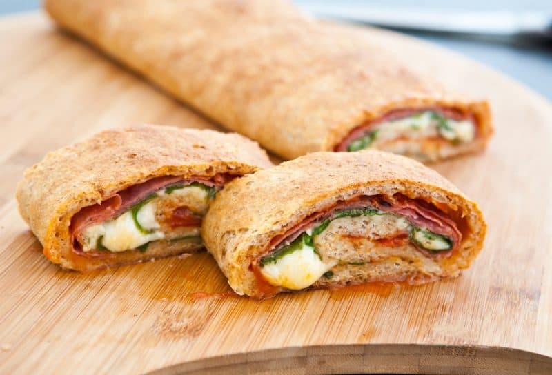 Eclectic Everyday » Spinach and Salami Stromboli