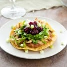 Turkey Tostadas with Cranberry Chipotle Sauce @EclecticEveryday