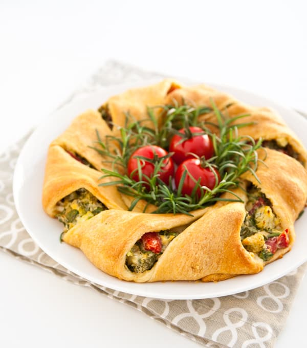 Crescent Wreath by EclecticRecipes.com #recipe