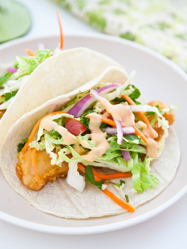 Fish tacos with yum yum sauce recipe dishmaps for What kind of fish for fish tacos