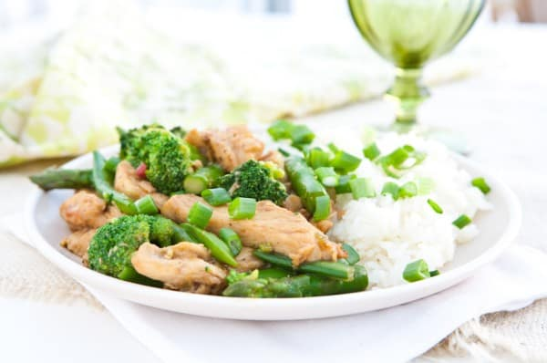 Asparagus and Broccoli Chicken Teriyaki by EclecticRecipes.com #recipe