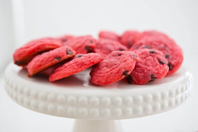 Eclectic Everyday » Chocolate Raspberry Cookies