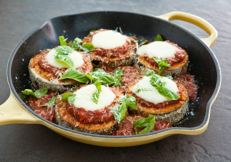 Eclectic Everyday » Skillet Eggplant Parmigiana