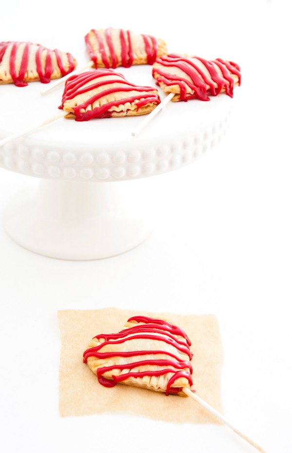 Heart Shaped Pie Pops by EclecticRecipes.com #recipe