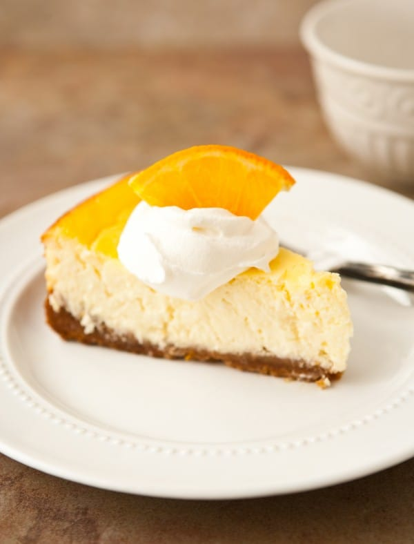 Orange Greek Yogurt Cheesecake @EclecticEveryday