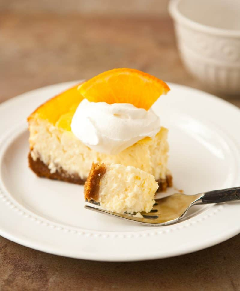 Eclectic Recipes » Orange Greek Yogurt Cheesecake