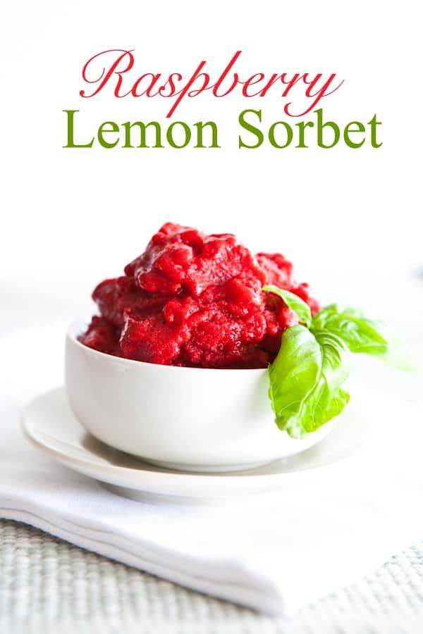 Raspberry Lemon Sorbet @EclecticEveryday